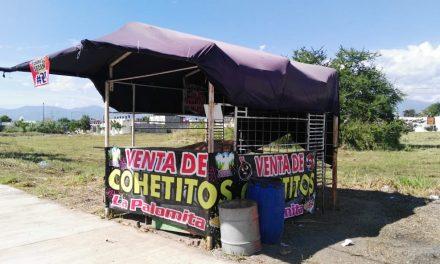 Estarán regulados los puestos de venta de cohetes y pirotecnia, por PC Municipal y la SEDENA