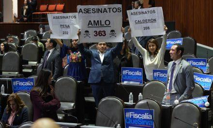 Protesta Jorge Luis Preciado, durante la discusión del dictamen de la Fiscalía General