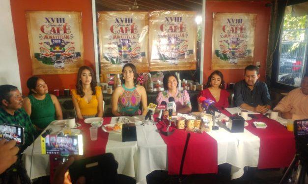PRESENTAN PROGRAMA DE LA XVIII FERIA DEL CAFÉ Y MINERÍA MINATITLÁN 2019