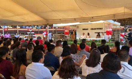 Participan 47 Parejas en ceremonia colectiva de La Petatera, por día del amor y la amistad