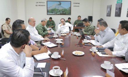 Gobernador insiste en coordinación  para fortalecer seguridad pública