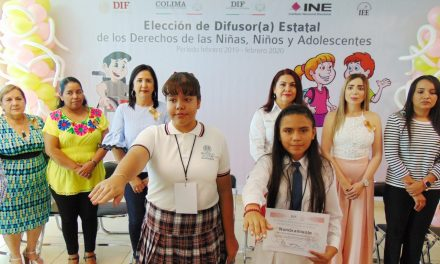 Eligen a Geraldhy Gálvez como difusora estatal por los derechos de los niños