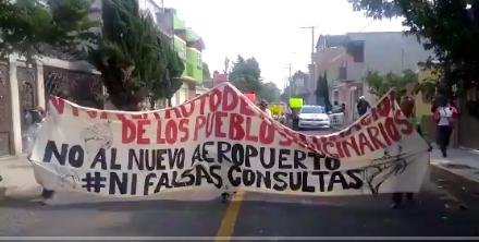 12 pueblos de Tecamac marchan contra el Aeropuerto de Santa Lucía