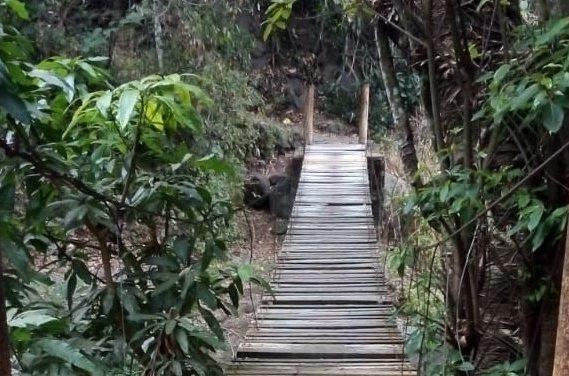 Dice SEIDUR que sí se rehabilitó uno de los tres puentes colgantes de la comunidad de Suchitlán
