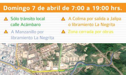 Este domingo 7 de abril se cerrará la circulación del acceso a Tapeixtles