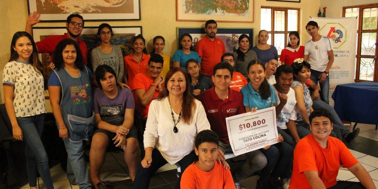 Dona Vladimir Parra la mitad de su sueldo a Fundación TATO