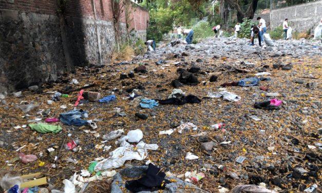 Retiran más de 12 toneladas de basura, del Río Pereyra
