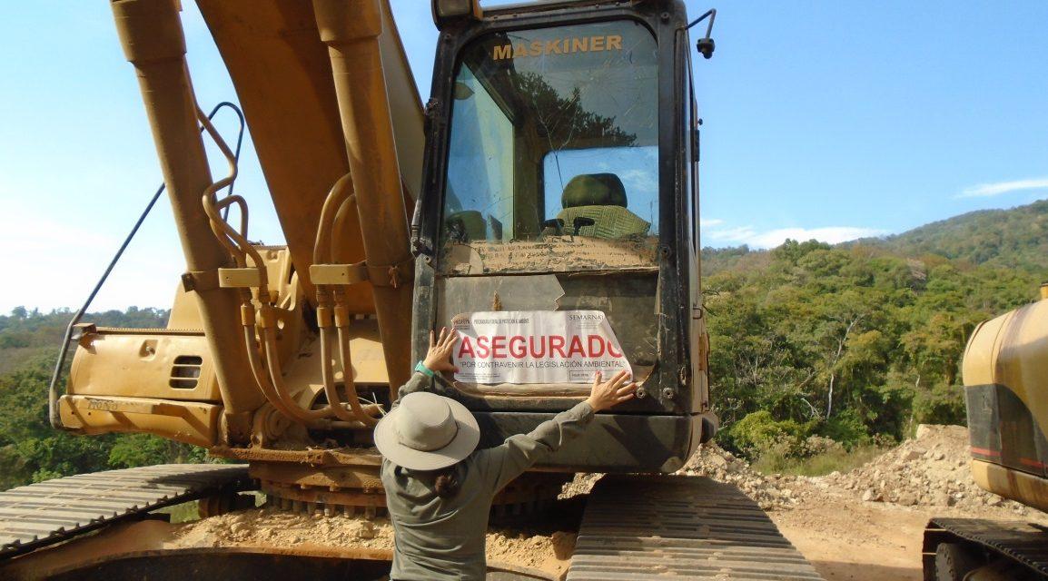Profepa clausura obras y actividades de cambio de uso de suelo y explotación de mineral de fierro en Colima