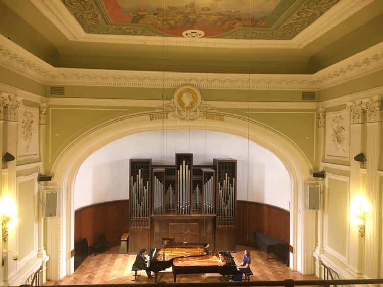 Ofrece Dúo Petrof exitoso concierto en el Conservatorio de Moscú