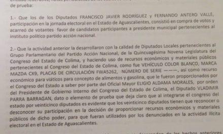 Presentan denuncia ante la Fiscalía del Estado y ante FEPADE, en contra de Francisco Rodríguez y Fernando Antero