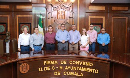 Estrechan colaboración y trabajo conjunto UdeC y Ayuntamiento de Comala