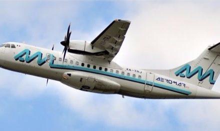 Informa Aeromar que un rayo impactó la aeronave que viajaba a Colima, la tarde del lunes