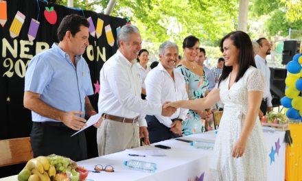 Clausura Secretario de Educación ciclo escolar en la Primaria Alejandro Flores Garibay