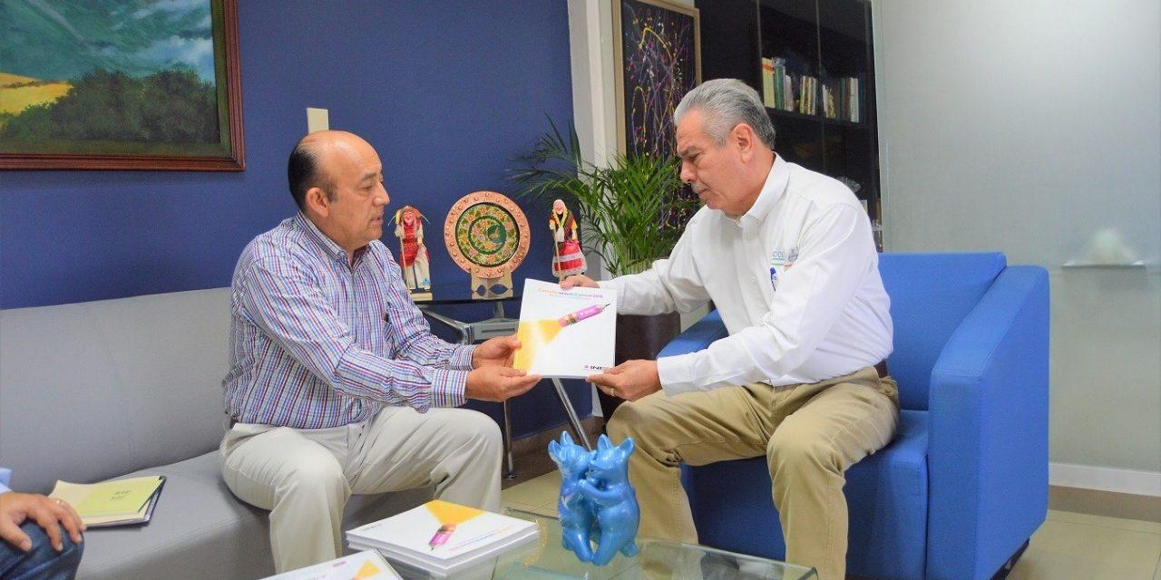 Se reúne Jaime Flores con titular del INE en Colima Luis Zamora Cobián