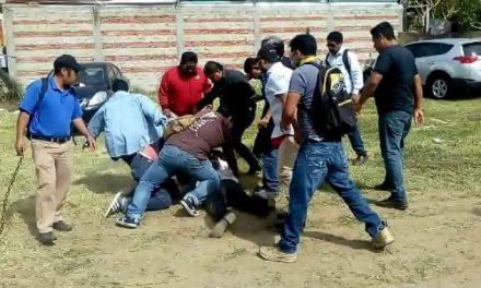 Reportan riña con disparos entre Redes Sociales Progresistas de Gordillo y Sección 22 de la CNTE