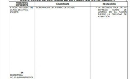 SCJN atraerá el tema de nombramientos de magistrados del STJE; atiende petición de gobernador