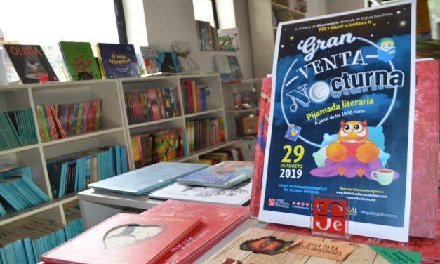 """El 29 de agosto, habrá """"pijamada literaria""""  en librería del Fondo de Cultura Económica"""