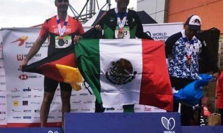 El atleta colimense Héctor Calleros conquista tres medallas en Campeonato Mundial de Trasplantados