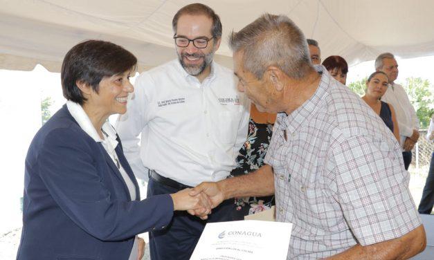 Entrega Gobernador pozo profundo de agua potable en Comala