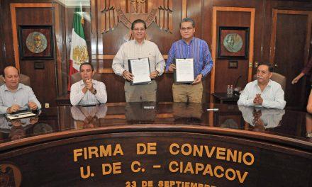 Formalizan trabajo conjunto UdeC y CIAPACOV