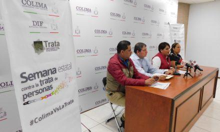 Del 23 al 27 de septiembre, se realizará la Semana Estatal contra la Trata de Personas