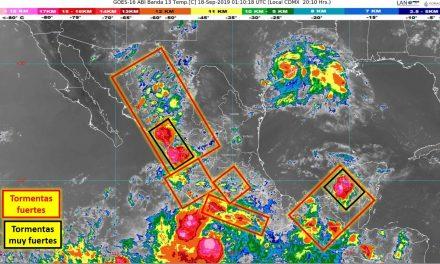 La TT Lorena se intensifica al sur de las costas de Guerrero y Michoacán; Se pronostican lluvias intensas en Colima