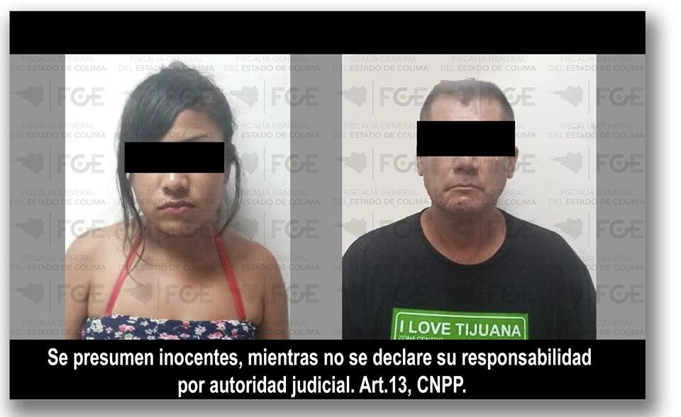 En cateo detienen a pareja y aseguran droga y arma, en Manzanillo