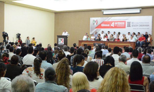 El priismo de Colima reconoce el trabajo realizado por el gobierno de Nacho Peralta en beneficio de los colimenses