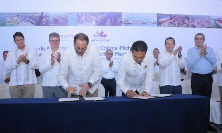 Colima y Michoacán acuerdan consolidar plataforma logística del Pacífico