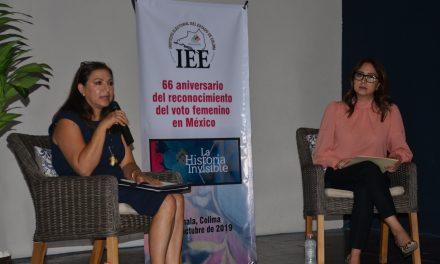 Conmemora IEE Colima 66 aniversario del voto femenino en México con proyección de documental
