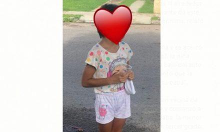 Niña de 8 años fue rescatada de la calle, por la policía; ya está con su mamá: Felipe Cruz