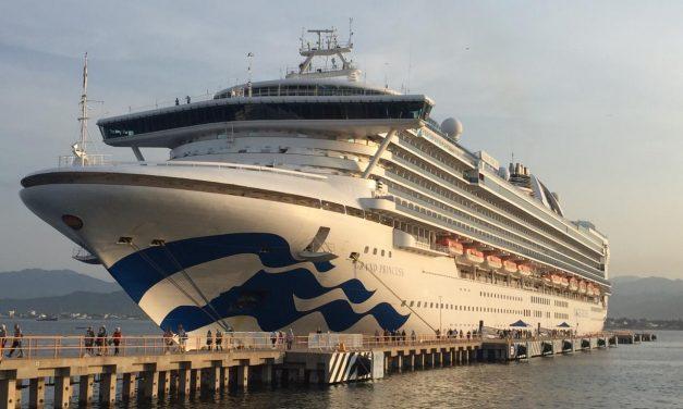 Arriba al puerto de Manzanillo el Crucero Grand Princess