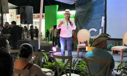 Ivonne Odette presenta conferencia sobre vino, en las actividades de la Feria de Colima 2019