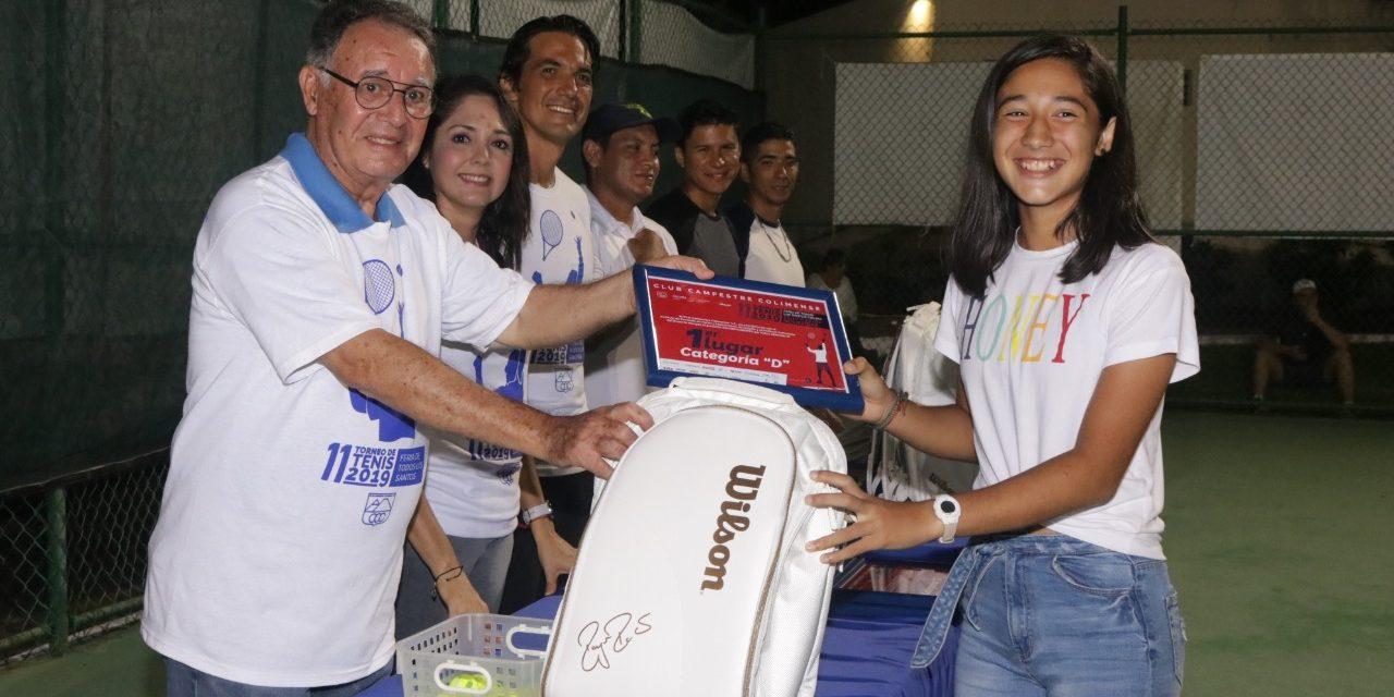Premia Incode a las y los campeones de Tenis de la Feria de Colima 2019