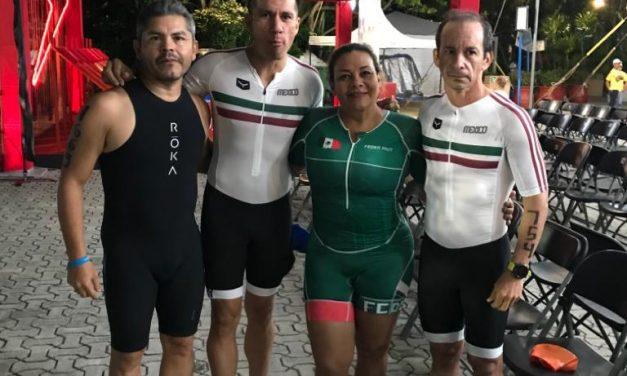 Colimenses participan en Campeonato Nacional de Triatlón en Xel-Ha, QR