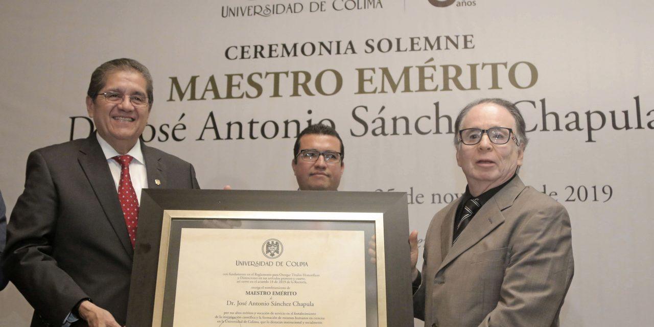 Nombra UdeC Maestro Emérito al Dr. José Antonio Sánchez Chapula
