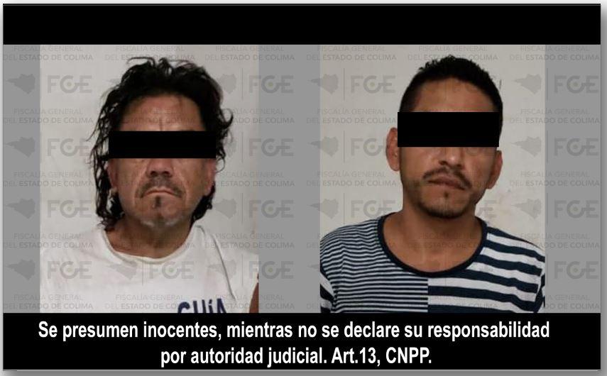 En Manzanillo, resultan dos detenidos y droga incautada en cateo