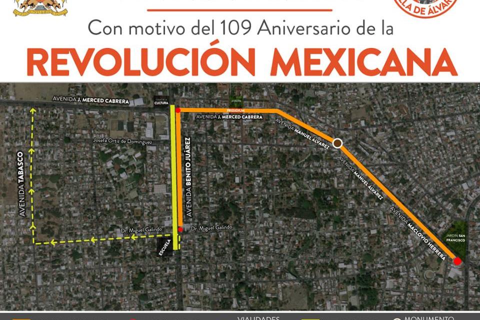 Alcalde de Villa de Álvarez  invita a disfrutar desfile por 109 aniversario de la Revolución, este domingo 24