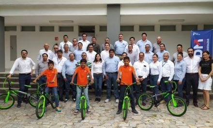 Peña Colorada dona bicicletas a niños y niñas de la Casa Hogar del Niño Colimense
