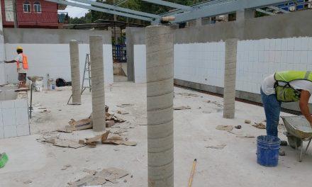 Avance del 90% en la obra de remodelación del Rastro Municipal de Santiago, en Manzanillo