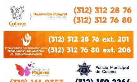 Ponen a disposición teléfonos para denuncias que atenten contra el bienestar de la niñez colimense