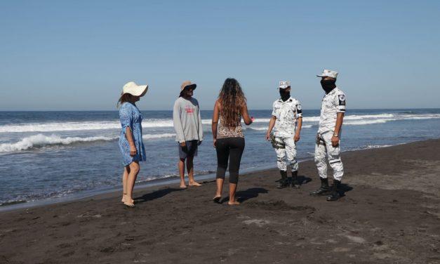 Cerradas todas las playas del estado; policías estatales con apoyo de fuerzas federales implementan operativo