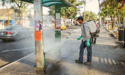 Continua la sanitización en espacios públicos del municipio de Colima