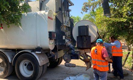 COMAPAL realiza mantenimiento en red de drenaje de Armería