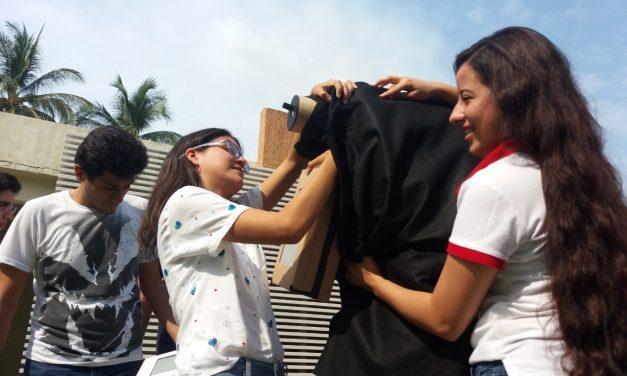 Diseñan estudiantes de la UdeC cámara estenopeica gigante