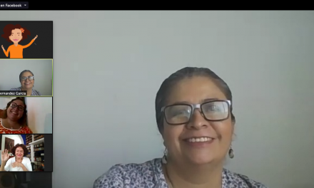La activista Laura Hernández, impartió el tema de la difusión y defensa de los derechos humanos ante el COVID-19