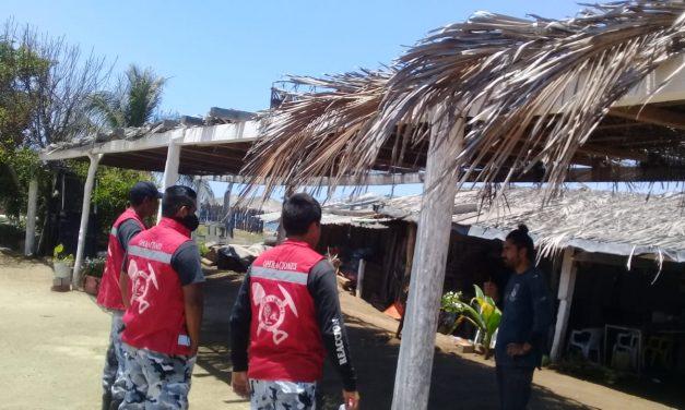 Retira PC Manzanillo a 80 personas de las playas durante la alerta por aumento del nivel de la marea