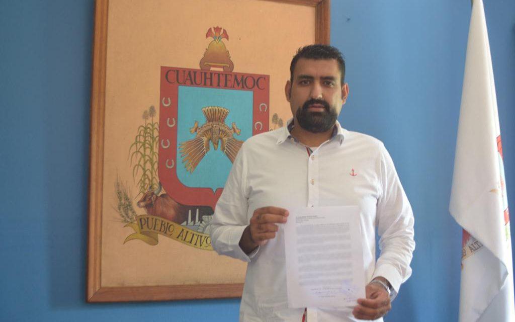 Rafael Mendoza se declara alcalde independiente; renuncia a su militancia dentro del PAN