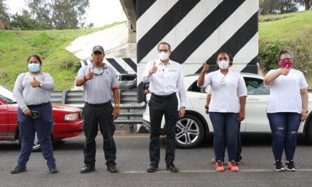 Gobernador reconoce trabajo de personal de Filtros Sanitarios; Su labor contribuyó a retrasar el ingreso de Colima a la fase 3