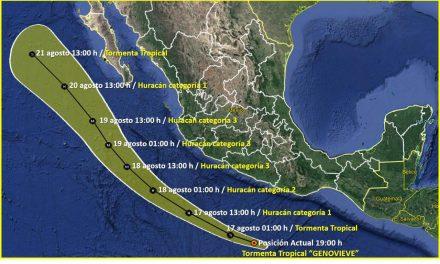 Ante cercanía de Tormenta Tropical, Protección Civil sugiere traslado a otro sitio a personas en zonas de riesgo